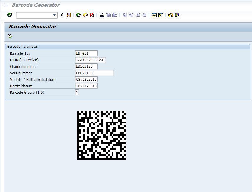 UDI GS1 Barcode Generator für SAP
