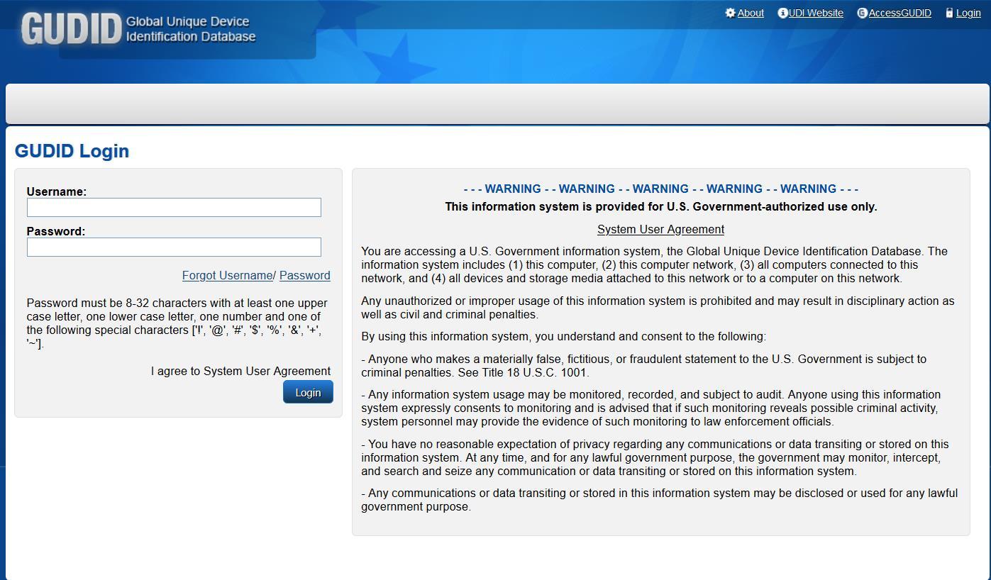 GUDID Web-Account erklärt
