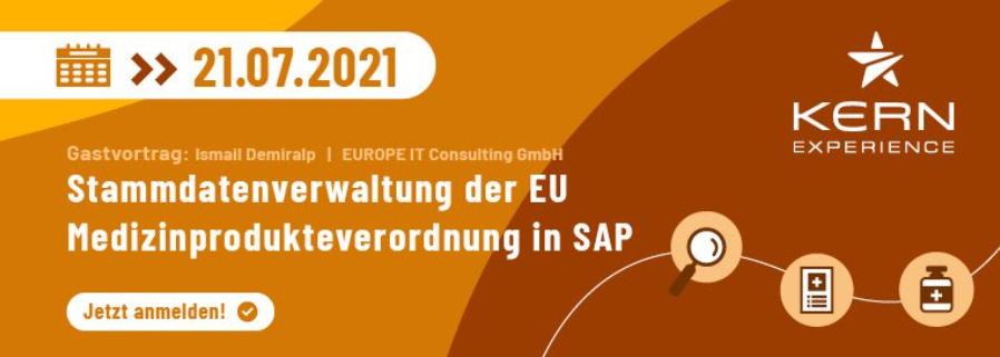 Kern Experience Webinar: Stammdatenverwaltung der EU – Medizinprodukteverordnung in SAP