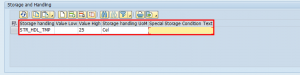Enter Storage and Handling Types in the SAP Add-On for the FDA