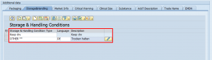 Enter Storage and Handling Conditions in the SAP Add-On for EUDAMED